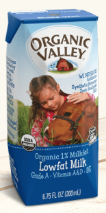 Organic Valley single serve milk