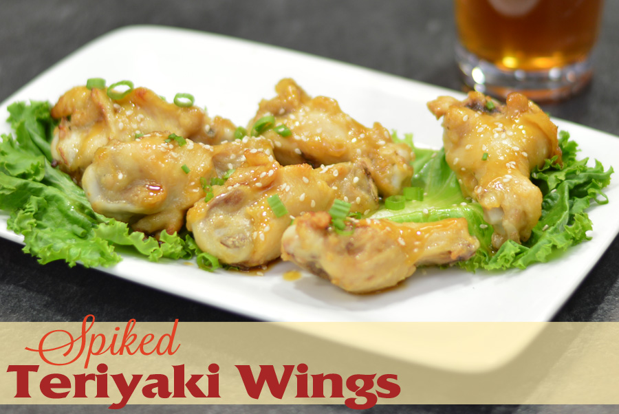 Plate of the teriyaki chicken wings