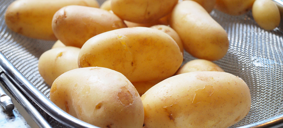 Strained potatoes