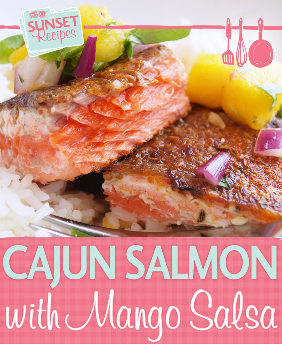 Cajun Salmon and Salsa