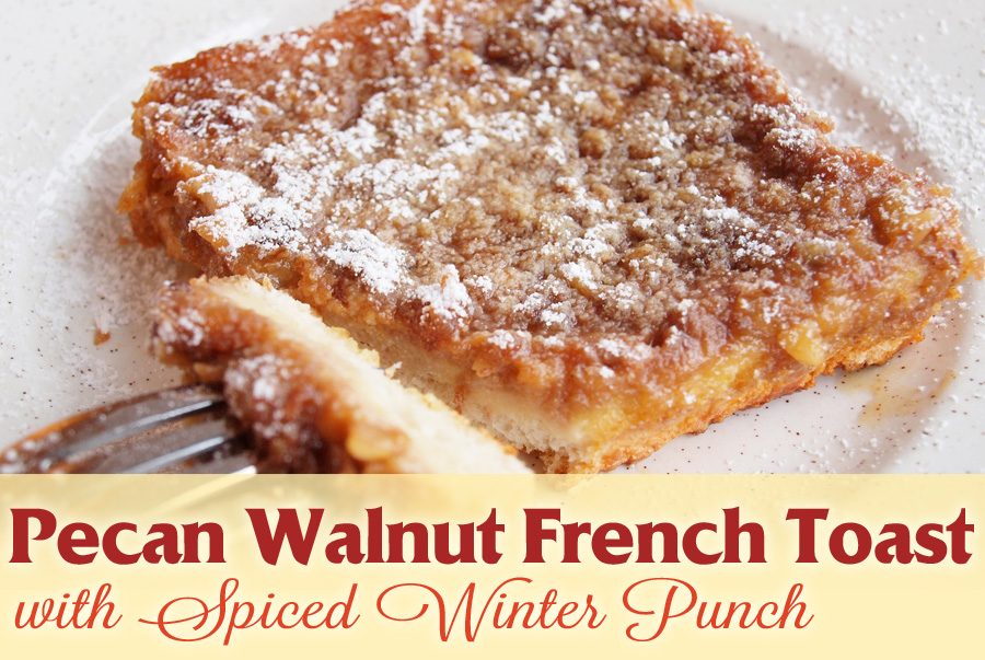 Frech Toast with pecan and walnut