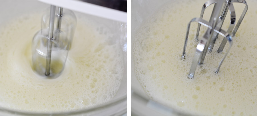 Beating egg whites and lemon juice
