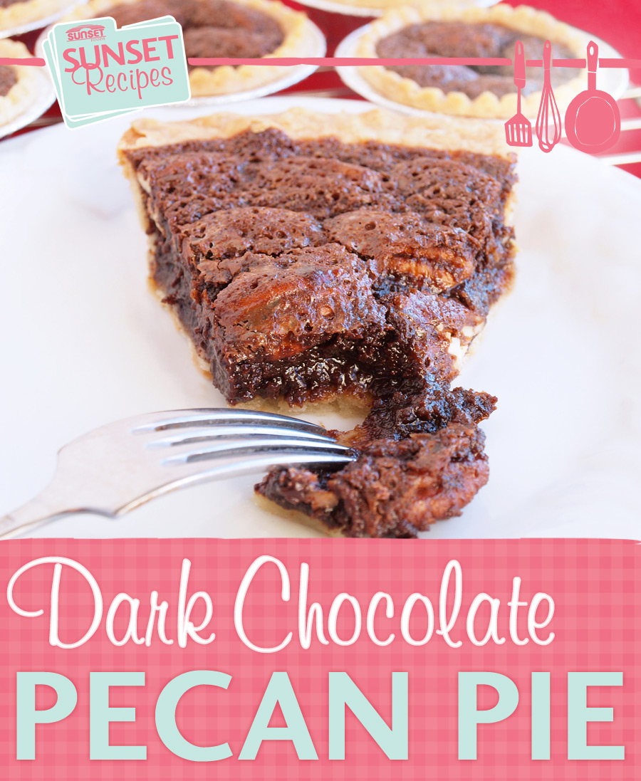 The dark chocolate pecan pie