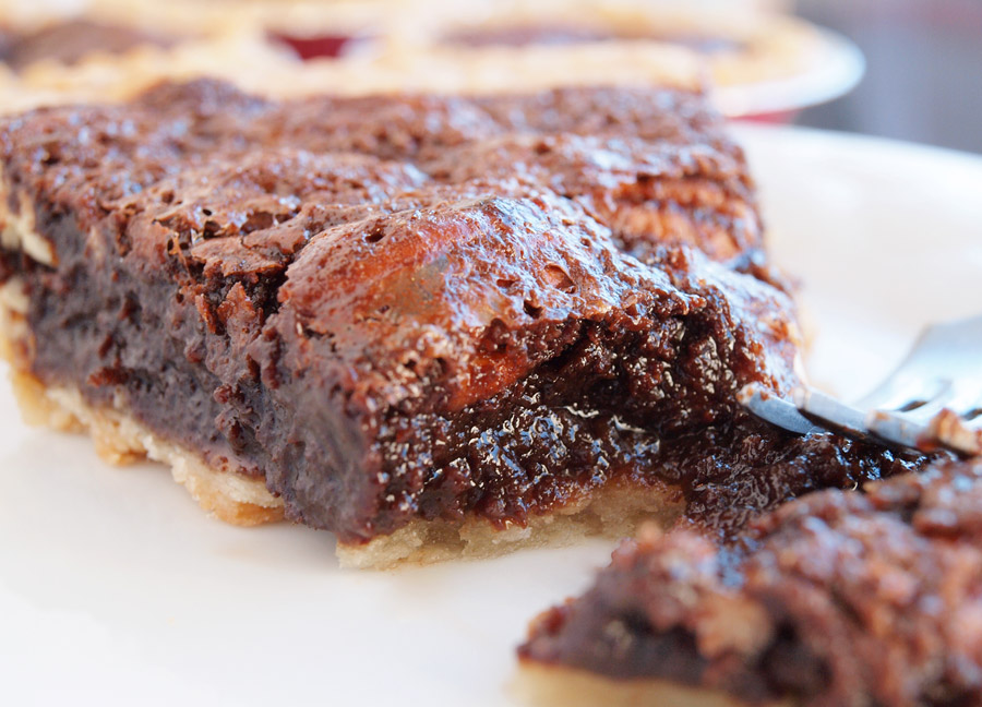 Chocolate Pecan Pie Slice