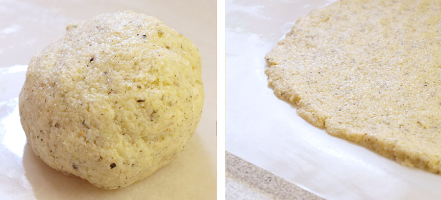 Creating a cauliflower dough ball