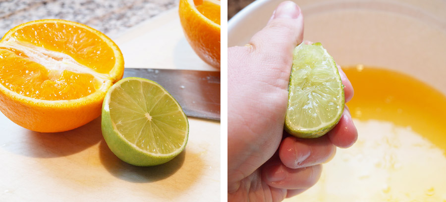 Juicing limes and oranges