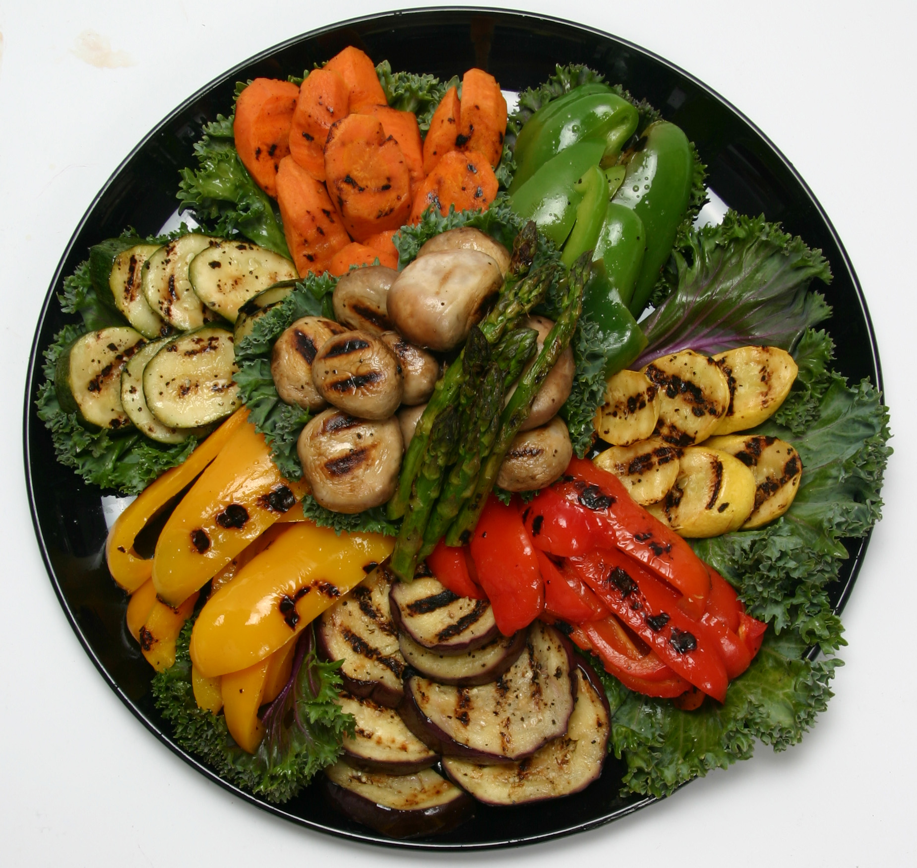 Grilled Peppers, Mushrooms, and Squash