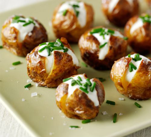 Jacket Potatoes w/ Cheese and Chives
