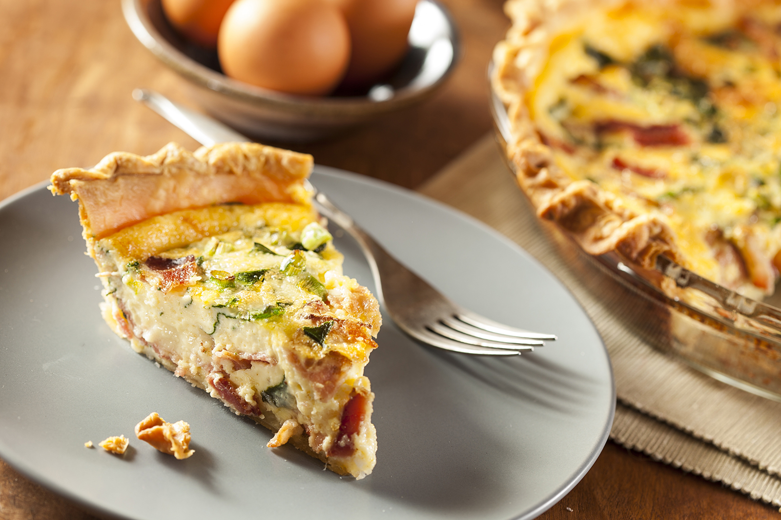 Sliced Quiche