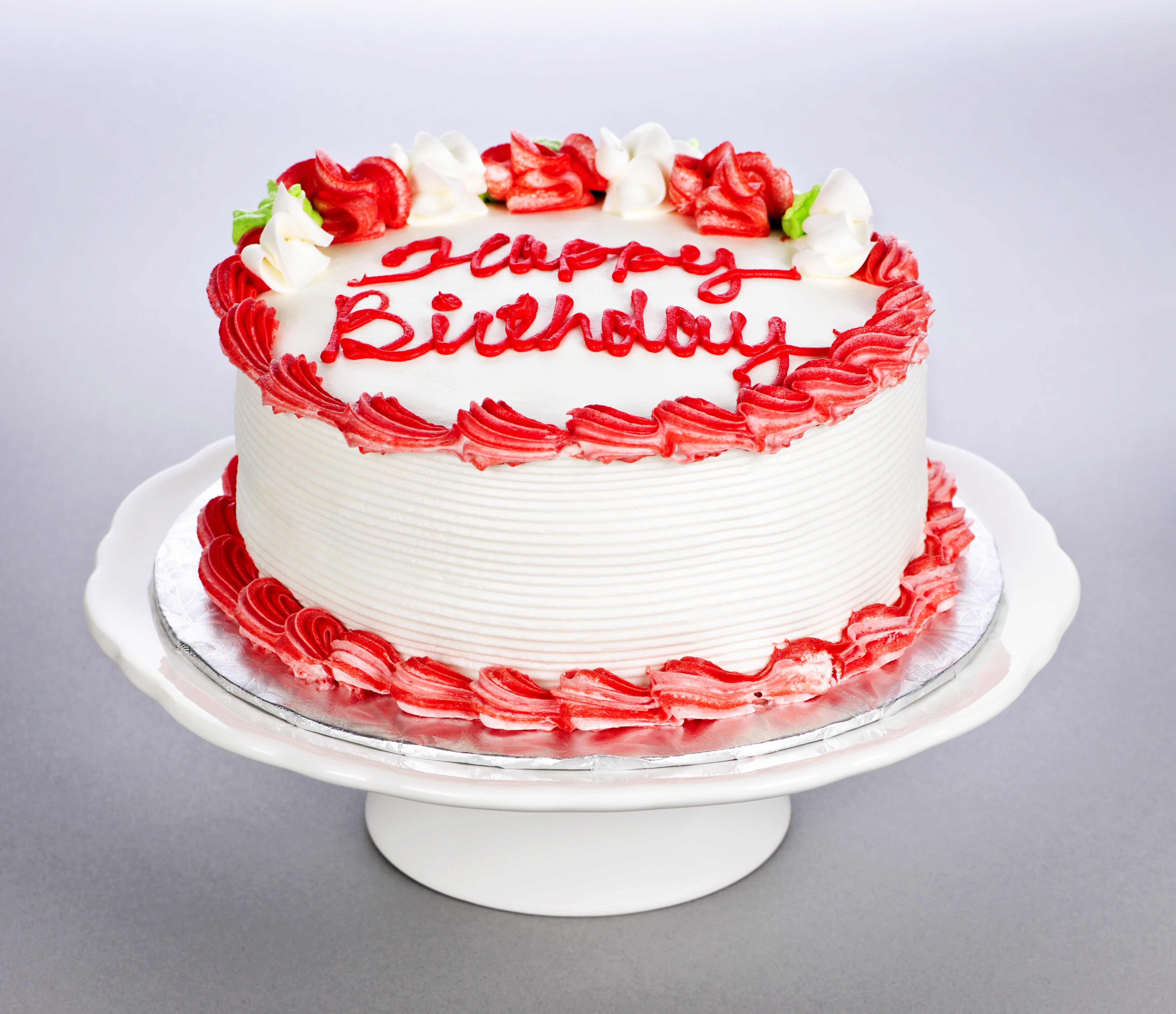 Round Cake w/ Red Frosting and Filling