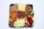 Antipasto Tray with Meat, Cheese, Olives, Vegetables