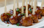 Skewered Meatballs with Sauce