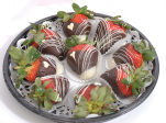 Tray of Chocolate Dripped Strawberries