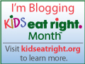 Kids Eat Right Month Badge