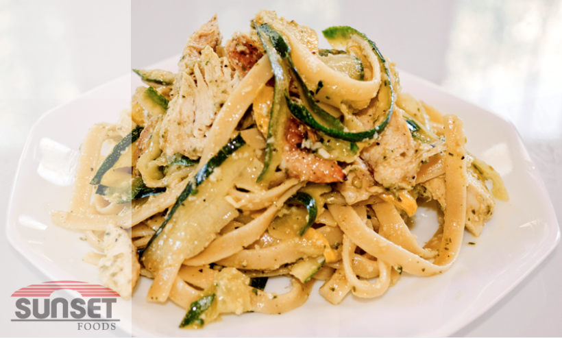 Zucchini Ribbons Pasta with Chicken photo
