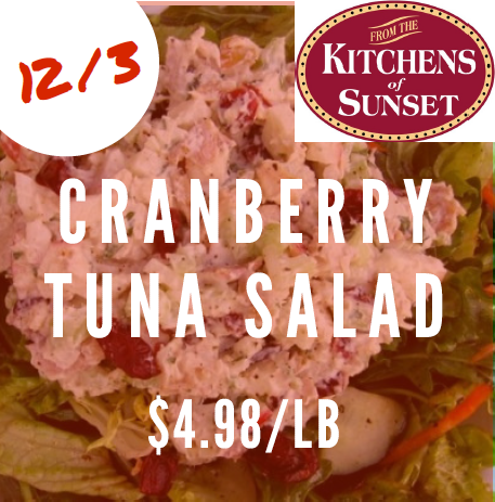 Cranberry tuna salad 4.98 lb