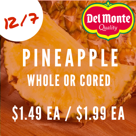Pineapple whole or cored