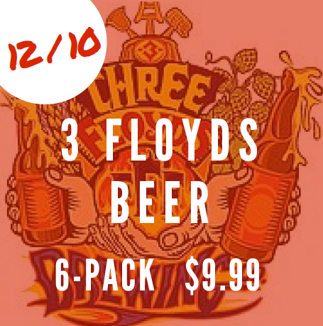 3 Floyds beer 6pack 9.99