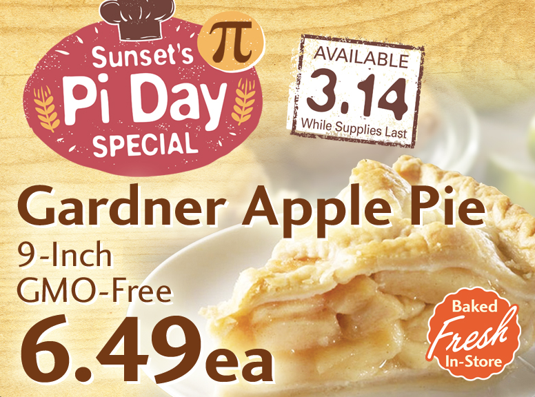 Pi Day event ad